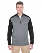Promotional UltraClub Adult Cool & Dry Sport 2-Tone 1/4-Zip Pullover