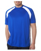 Logo UltraClub Adult Cool & Dry Sport Two-Tone Performance Tee