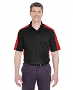 Custom Logo UltraClub Adult Cool & Dry Stain-Release 2-Tone Performance Polo