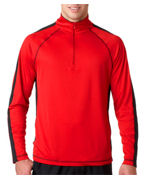 Customized UltraClub Adult Cool-N-DryTM Sport 1/4-Zip Tee