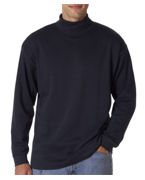 Custom Logo UltraClub Adult Egyptian Interlock Long-Sleeve Turtleneck