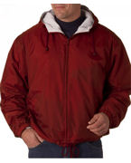 Embroidered UltraClub Adult Fleece-Lined Hooded Jacket