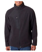 Embroidered UltraClub Adult Full-Zip Micro-Fleece Jacket With Pocket