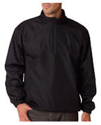 Logo UltraClub Adult Micro-Polyester Windshirt