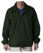 Personalized UltraClub Adult Nylon Coaches Jacket