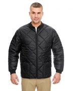 Personalized UltraClub Adult Puffy Workwear Jacket with Quilted Lining