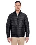 Embroidered UltraClub Adult Quilted Puffy Jacket