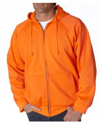 Custom Logo UltraClub Adult Rugged Wear Thermal-Lined Full-Zip Jacket
