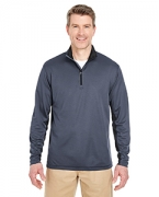 Custom Embroidered UltraClub Adult 2-Tone Keyhole Mesh 1/4-Zip Pullover