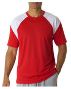 Embroidered UltraClub Adult UltraClub Cool-N-Dry Sport Color Block Tee