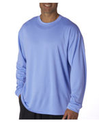 Embroidered UltraClub Adult UltraClub Cool-N-Dry Sport Long-Sleeve Tee