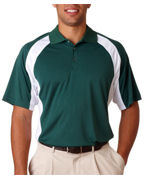 Personalized UltraClub Adult UltraClub Cool-N-Dry Sport Performance Color Block Polo