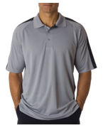 Embroidered UltraClub Adult UltraClub Cool-N-Dry Sport Shoulder Block Polo