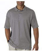 Custom Logo UltraClub Adult UltraClub Cool-N-Dry Sport Two-Tone Polo
