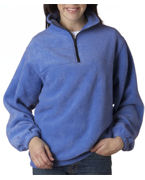 Logo UltraClub Adult UltraClub Iceberg Fleece 1/4-Zip Pullover