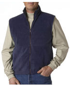 Embroidered UltraClub Adult UltraClub Iceberg Fleece Full-Zip Vest