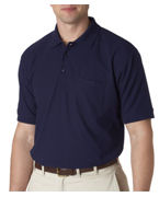 Embroidered UltraClub Adult Whisper Pique Polo with Pocket