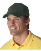 Custom Embroidered UltraClub Classic Cut Brushed Cotton Twill Constructed Cap