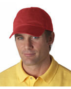 Logo UltraClub Classic Cut Brushed Cotton Twill Unconstructed Cap