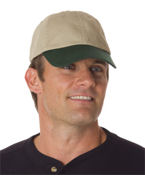 Personalized UltraClub Classic Cut Chino Cotton Twill Unconstructed Two-Tone Cap