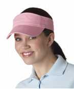 Custom Logo UltraClub Classic Cut Chino Cotton Twill Visor