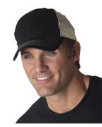 Personalized UltraClub Classic Cut Washed Brushed Cotton Twill Unconstructed Trucker Cap