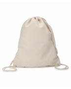 Personalized UltraClub Cotton Canvas Drawstring Pack