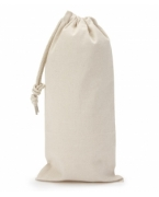 Custom Embroidered UltraClub Drawstring Wine Bag