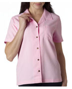 Embroidered UltraClub Ladies' Cabana Breeze Camp Shirt