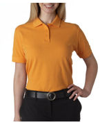 Logo UltraClub Ladies' Classic Pique Polo
