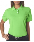 Logo UltraClub Ladies' Classic Platinum Polo