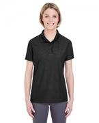 Custom Logo UltraClub Ladies' Cool & Dry Box Jacquard Performance Polo
