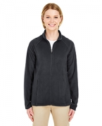 Customized UltraClub Ladies' Cool & Dry Full-Zip Micro-Fleece