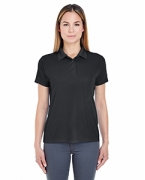 Custom Embroidered UltraClub Ladies' Cool & Dry Jacquard Performance Polo