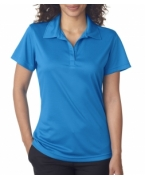 Embroidered UltraClub Ladies' Cool & Dry Jacquard Stripe Polo