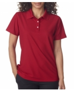 Custom Logo UltraClub Ladies' Cool & Dry Pebble-Knit Polo