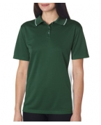 Custom Embroidered UltraClub Ladies' Cool & Dry Sport Two-Tone Polo