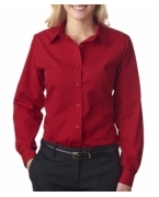 Embroidered UltraClub Ladies' Easy-Care Broadcloth