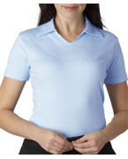 Customized UltraClub Ladies' Egyptian Interlock V-Neck Polo