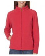 Custom Embroidered UltraClub Ladies' Micro Fleece Full-Zip Jacket