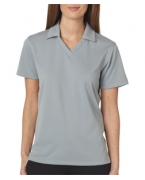 Customized UltraClub Ladies' Platinum Performance Jacquard Polo with TempControl Technology