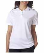 Monogrammed UltraClub Ladies' Polo with Tipped Collar