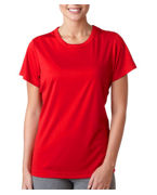 Monogrammed UltraClub Ladies UltraClub Cool-N-Dry Sport Performance Interlock Tee