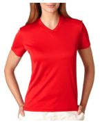 Custom Embroidered UltraClub Ladies' UltraClub Cool-N-Dry Sport V-Neck Tee