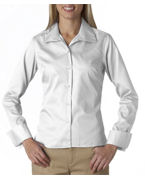 Promotional UltraClub Ladies' Whisper Elite Twill Shirt