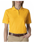 Monogrammed UltraClub Ladies' Whisper Pique Polo