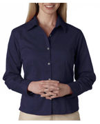 Logo UltraClub Ladies' Whisper Twill Shirt
