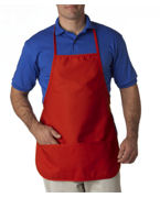 Logo UltraClub Large Two-Pocket Bib Apron