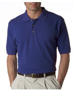 Logo UltraClub Men's Classic Pique Polo