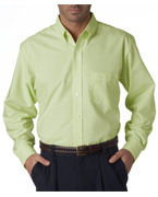 Custom Embroidered UltraClub Men's Classic Wrinkle-Free Long-Sleeve Oxford